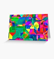 Abstract pattern digital painting electronic love Greeting Card