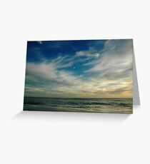Breathe In Beach Sunset Sky Greeting Card