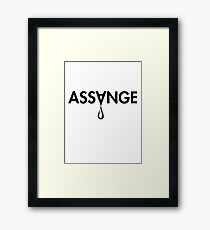 ASSANGE Framed Print