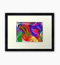 Abstract pattern digital painting electronic love no #2 Framed Print
