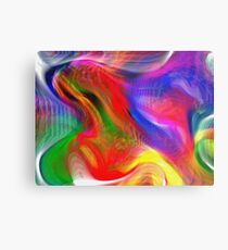 Abstract pattern digital painting electronic love no #2 Metal Print