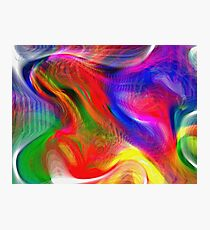 Abstract pattern digital painting electronic love no #2 Photographic Print