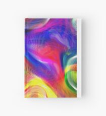 Abstract pattern digital painting electronic love no #2 Hardcover Journal