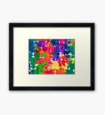 Abstract pattern digital painting electronic love no3 Framed Print