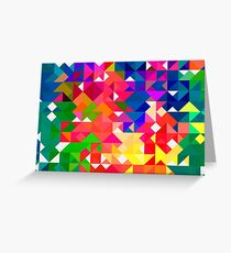 Abstract pattern digital painting electronic love no3 Greeting Card