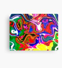 Abstract pattern digital painting electronic love no4 Metal Print