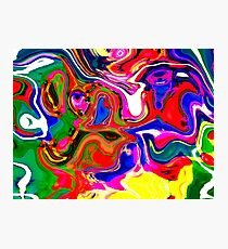 Abstract pattern digital painting electronic love no4 Photographic Print