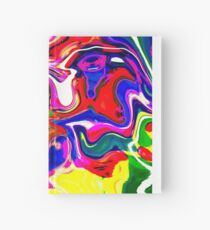 Abstract pattern digital painting electronic love no4 Hardcover Journal