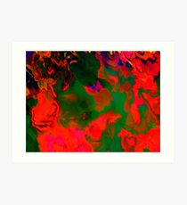 Abstract pattern digital painting electronic love no6 Art Print
