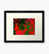 Abstract pattern digital painting electronic love no6 Framed Print