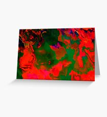 Abstract pattern digital painting electronic love no6 Greeting Card