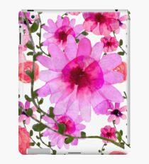 Vinilo o funda para iPad Rosa floral acuarela vintage