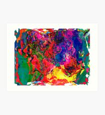 Abstract pattern digital painting electronic love no7 Art Print