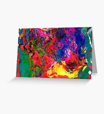 Abstract pattern digital painting electronic love no7 Greeting Card