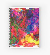 Abstract pattern digital painting electronic love no7 Spiral Notebook