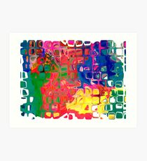 Abstract pattern digital painting electronic love no8 Art Print