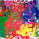 Abstract pattern digital painting electronic love no8 by andesign101