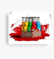 Zombie 8-Pack Bloodied Canvas Print