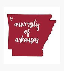 University of Arkansas Photographic Print