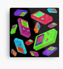 Gameboy Graphics Metal Print