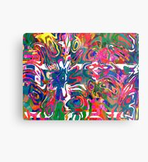 Abstract pattern digital painting electronic love no 9 Metal Print