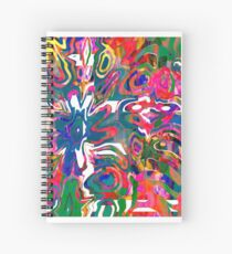 Abstract pattern digital painting electronic love no 9 Spiral Notebook