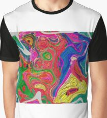 Abstract pattern digital painting electronic love no 10 Graphic T-Shirt