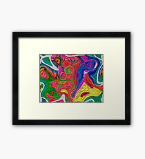 Abstract pattern digital painting electronic love no 10 Framed Print