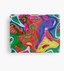 Abstract pattern digital painting electronic love no 10 Metal Print