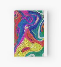 Abstract pattern digital painting electronic love no 10 Hardcover Journal