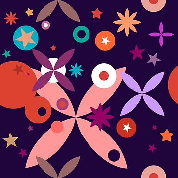 Stars and flowers by iconymous
