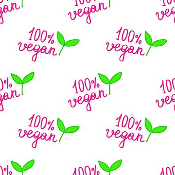 doodle lettering 100% vegan seamless doodle pattern by zizimentos