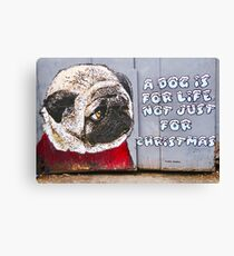 A Dog Is For Life Not Just For Christmas Canvas Print