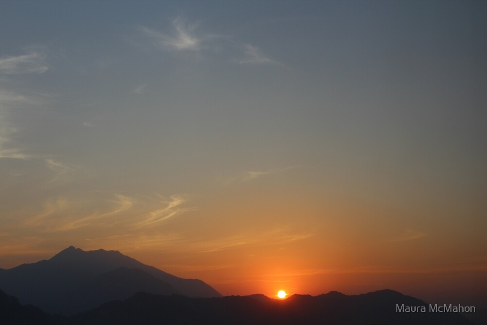 Sunset Over The Mountains by Maura McMahon