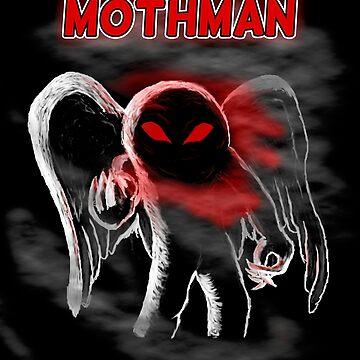 Mothman in Fog by SouthCherry