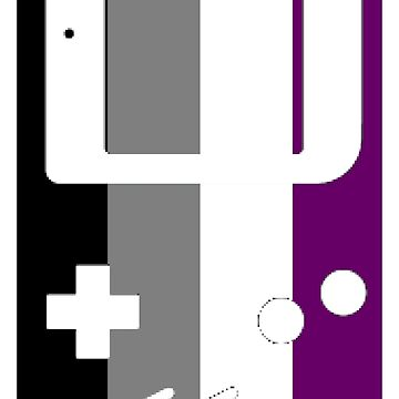 Gaymer - Asexual Pride GameBoy Color by ay-zup