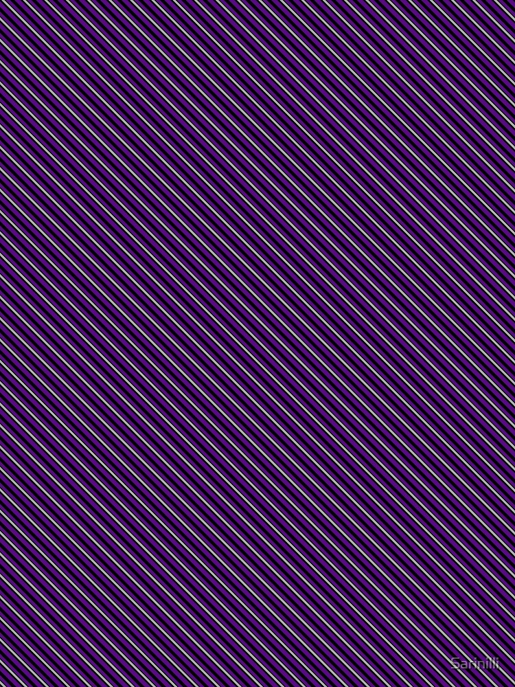 Stripes - Violet and Pewter by Sarinilli