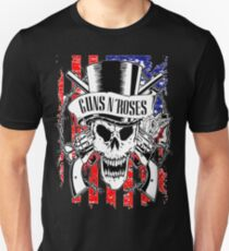 guns USA skull and roses By Christiano Unisex T-Shirt