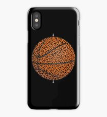 Basketball Shaped Maze & Labyrinth iPhone Case