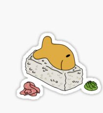 Goldfish Sushi Sticker