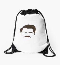 Ron Swanson Drawstring Bag