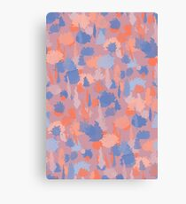 Forest Pattern in Mauve, Coral and Blue Canvas Print