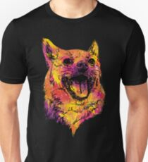 Cute Happy Smiling Chihuahua Mutt Rainbow Painting Unisex T-Shirt