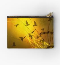 Birds Through the Toxic Dust Studio Pouch