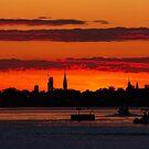 NYC Skyline Sunset by KarenDinan