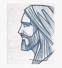 Jesus Christ Face illustration Photographic Print