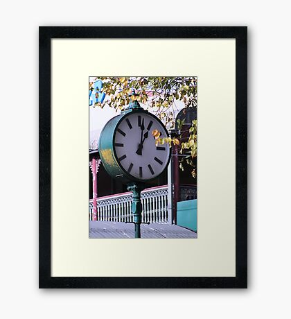 Clock in Healesville -  Country Victoria Framed Print