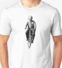 Albert Einstein Riding a Bicycle  Unisex T-Shirt