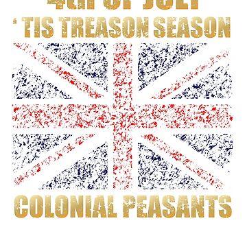 Funny Treason Day Shirt 4th Of July British Treason Season Humor by bev100