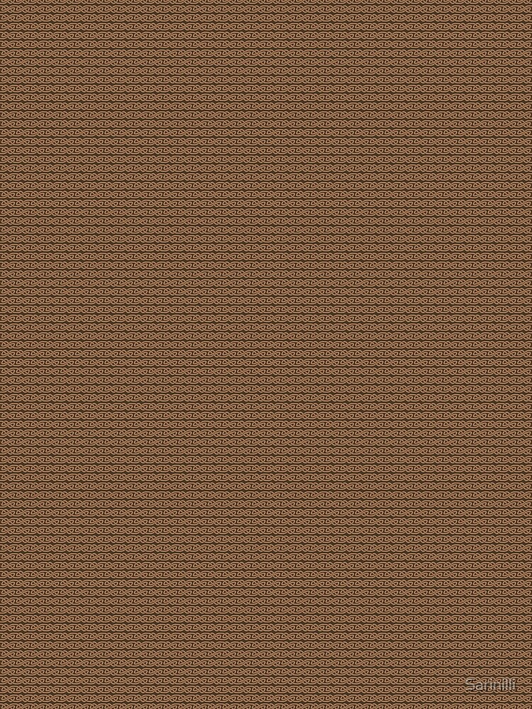 Simple Knotwork in Tan on Brown by Sarinilli